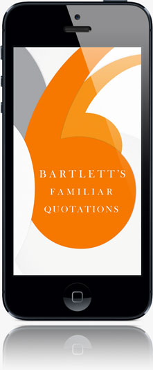 Bartlett's Quotations app on iPhone